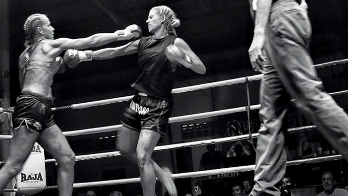 female muay thai fight