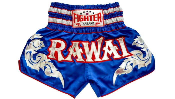 blue muay thai shorts