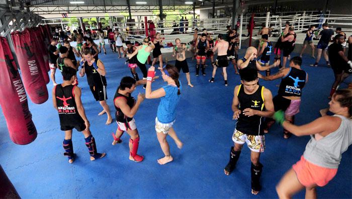 palestra di muay thai in thailandia